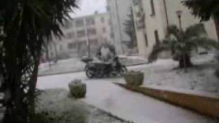 preview picture of video 'neve a primavalle roma ore 10 50 il 12 02 2010'