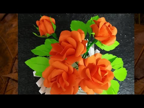 How To Make Origami Paper Rose How To Make Flowers From Color