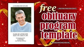 free-obituary-templates