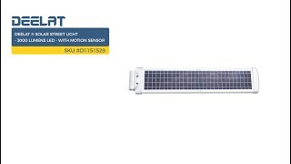 Solar Street Light - 3000 Lumens LED - with Motion Sensor SKU #D1151529