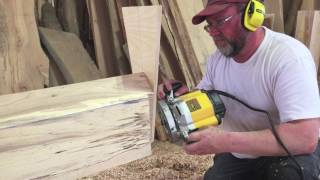 Cutting dovetail joints on timbers