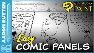 How to Make Comic or Manga Panels the EASY WAY - ClipStudio Paint Pro Tutorial