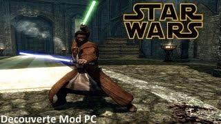 Skyrim Mod [FR] : Star Wars - Casque Dark Vador, Robe Jedi et Sabres laser