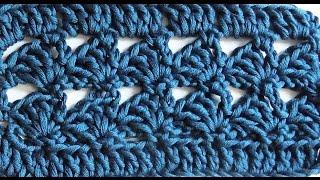 Узор крючком. Простой и красивый.№1  crochet Pattern