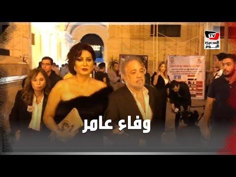 وفاء عامر تُرسل القبلات في ختام مهرجان الإسكندرية السينمائي