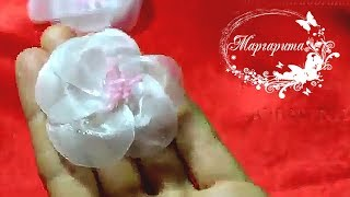 ЦВЕТЫ ИЗ ОРГАНЗЫ🌷DIY Kanzashi Organza flowers