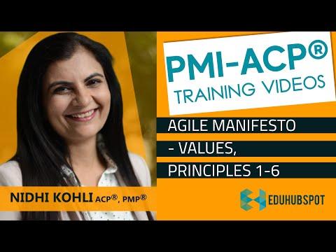 PMI ACP Training - PMI ACP Exam Prep - Agile Manifesto - Values ...