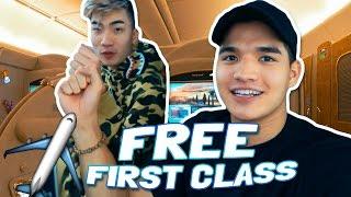 FREE FIRST CLASS FLIGHT!
