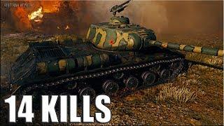 14 фрагов за бой на IS-2  World of Tanks лучший бой