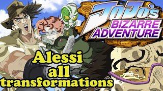 JoJo's Bizarre Adventure-Alessi all transformation Uncensored (cps3)