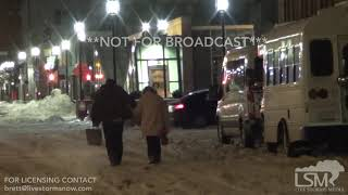 01-20-2019 Boston, MA - Life Flight Landing Taking Off and People in Road