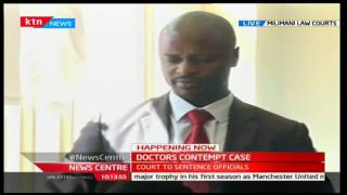 Doctors' union Chair Samuel Oroko gives reasons why he should not be sentenced
