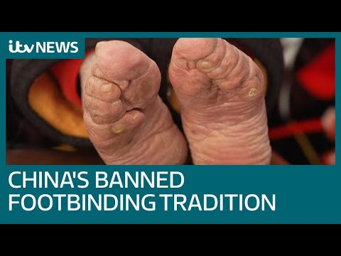 Download Banned practice of foot binding blighting China's oldest women | ITV News HD Mp4 3GP Video and MP3
