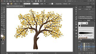 How To Create A Tree With Leaves In Adobe Illustrator