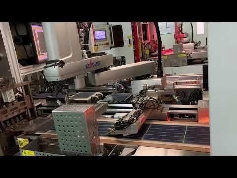 Автоматическая пайка солнечный панелей Энерговольт