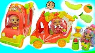 2 Exclusive Season 5 Shopkins In Smoothie Truck Playset Car with Rainbow Kate + Foam Fruit