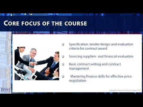 Procurement Training Courses -Best Practice Procurement Module ...
