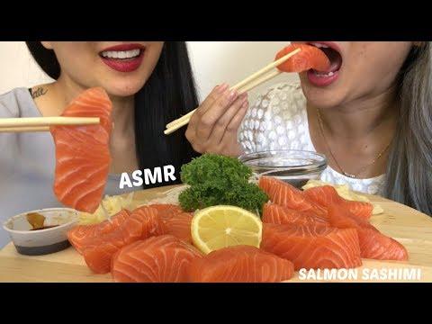 Salmon Sashimi |*NO Talking ASMR | Eating Sound | N.E Lets Eat