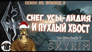 СНЕГ, УСЫ, ЛИДИЯ И ПУХЛЫЙ ХВОСТ [#skyrim season 20 episode 2]
