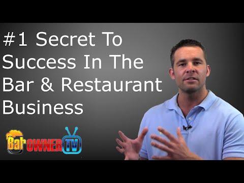 The Number 1 Success Secret To Bar & Restaurant Business