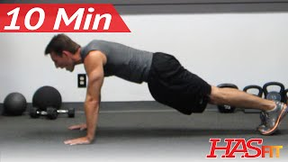 HASfit 10 Minute Chest Shoulders Triceps Workout - Chest and Triceps Exercises at Home by HASfit