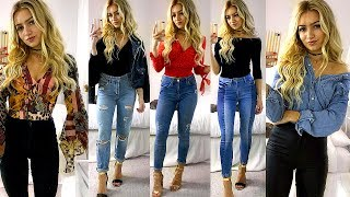 JEANS & A NICE TOP OUTFIT IDEAS / SMART CASUAL LOOKBOOK