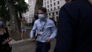 video: BBC journalist Nicholas Watt chased through streets by anti-lockdown protesters