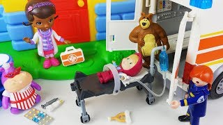 Ambulance Baby doll doctor and hospital toys play - ToyMong TV 토이몽