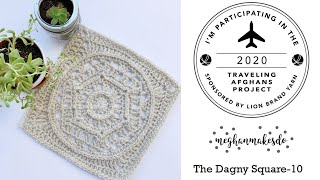 Traveling Afghans, The Dagny Square, Free Crochet Pattern, Lionbrand Traveling Afghans Project