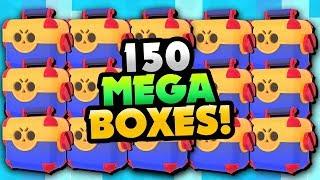 150 MEGA BRAWL BOX OPENING! WE GOT HOW MANY NEW BRAWLERS?! | Brawl Stars | BEST MEGA BOX OPENING!