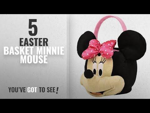 Top10 Easter Basket Minnie Mouse [2018]: Minnie Mouse (MINW1) Plush Basket, Medium