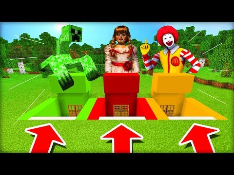 NEVYBER SI ŠPATNÝ BUNKR V MINECRAFTU! (Mutant Creeper, Annabelle, Ronald McDonald)