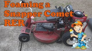 Foaming a Snapper Comet HV RER with Purple Power