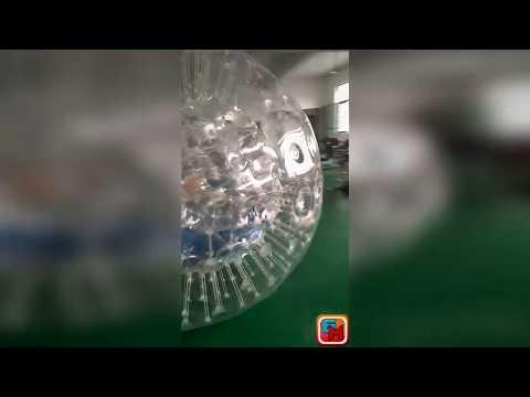 Надувной зорб прозрачный из ТПУ диаметром 2,2 м от