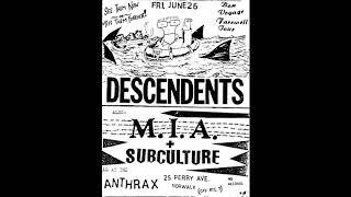 Descendents - Live @ The Anthrax, Norwalk, CT, 6/26/1987 [SOUNDBOARD]