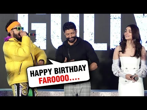 Ranveer Singh Alia Bhatt AMAZING RAP For Farhan Ak