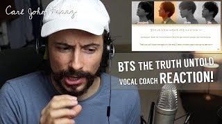Vocal Coach REACTS, BTS The Truth Untold (전하지 못한 진심) (feat. Steve Aoki)