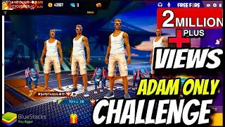 ADAM ONLY CHALLENGE IN FREE FIRE RANK SQUAD MATCH - PRO PLAYERS IN THE MATCH