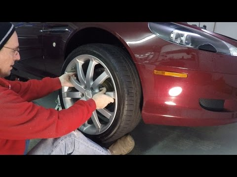 Installing a Road Wheel on an Aston Martin DB9