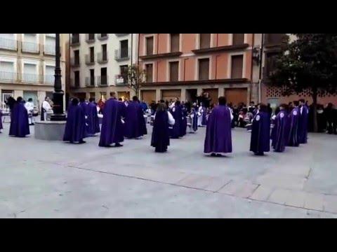 La cofradía de la Vera Cruz de Ágreda en el cierre de esta edición./SN