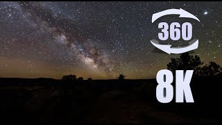 Twelve hours at Grand Staircase-Escalante (8K 360 sunrise to sunset time-lapse)