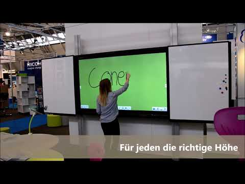 CleverRail elektrisch höhenverstellbare interaktive Tafel, Halterung für Monitore