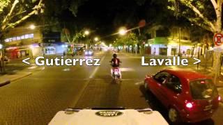 preview picture of video 'Recorriendo Mendoza de noche / Avenida San Martin, Ciudad'