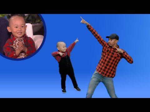 Viral Kid Dancer Liang Liang Teaches Kalen Some Dance Moves