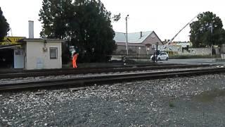preview picture of video 'Spúšťanie mechanických závor v Železničnej stanici Zlaté Moravce'