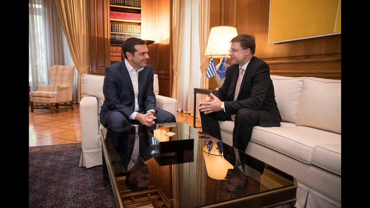 Συνάντηση με τον Αντιπρόεδρο της Ευρωπαϊκής Επιτροπής Valdis Dombrovskis,