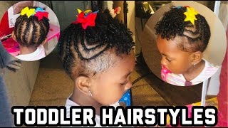 EASY PROTECTIVE HAIRSTYLES FOR TODDLER| NATURAL SHORT HAIRStyLES| Toddler Friendly Hairstyles