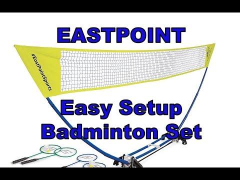 Eastpoint Easy Set Up Badminton Set (Unboxing, Set Up, Review)