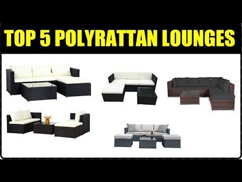 TOP 5 POLYRATTAN LOUNGES ★ Polyrattan Gartenmöbel Test ★ Gartenmöbel Polyrattan Geflecht Sitzgruppe