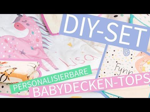 DIY SET: BABYDECKE NÄHEN mit unseren personalisierbaren DECKEN-TOPS